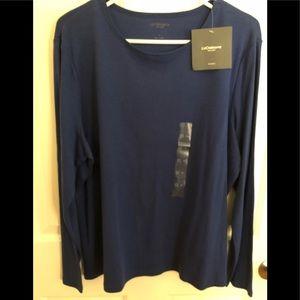 NWT - liz Claiborne pullover- beautiful blue